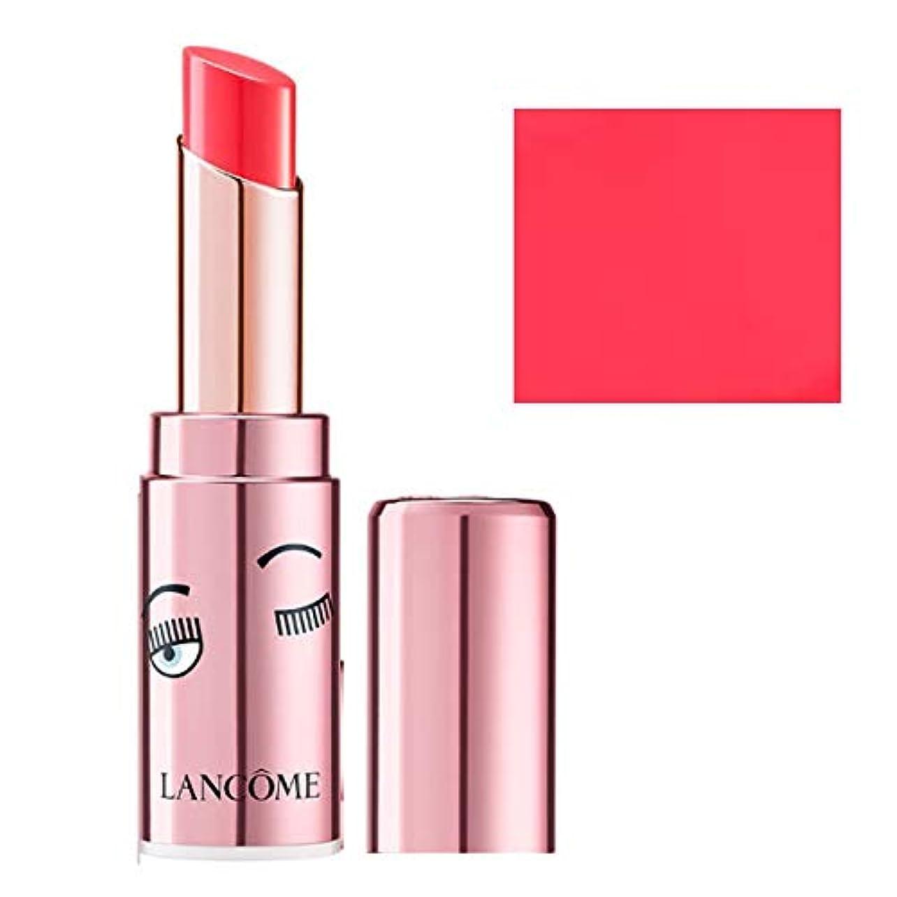 冗談でスノーケルストライプランコム(LANCOME), 限定版 limited-edition, x Chiara Ferragni L'Absolu Mademoiselle Shine Balm Lipstick - Positive Attitude...