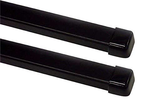 Terzo ベースキャリア バー 2本入 スクエアバータイプ ブラック 120cm エンドキャップ付 EB2
