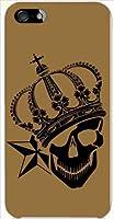 スマホケース iPhone5 スカルクラウン-D ハードケース カバー ジャケット アイフォン5 au softbank
