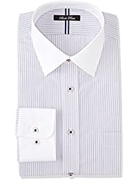 (セシール) cecile(セシール) 形態安定デザインYシャツ(ベーシックシルエット)