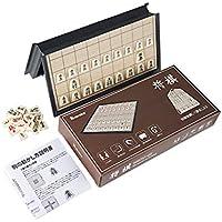 Homraku 将棋セット 折りたたみ式将棋盤 マグネット付き駒 コンパクト旅行ゲーム テーブルゲーム 子供も大人も老若男女楽しめる おもちゃ 駒の動かし方説明書付き