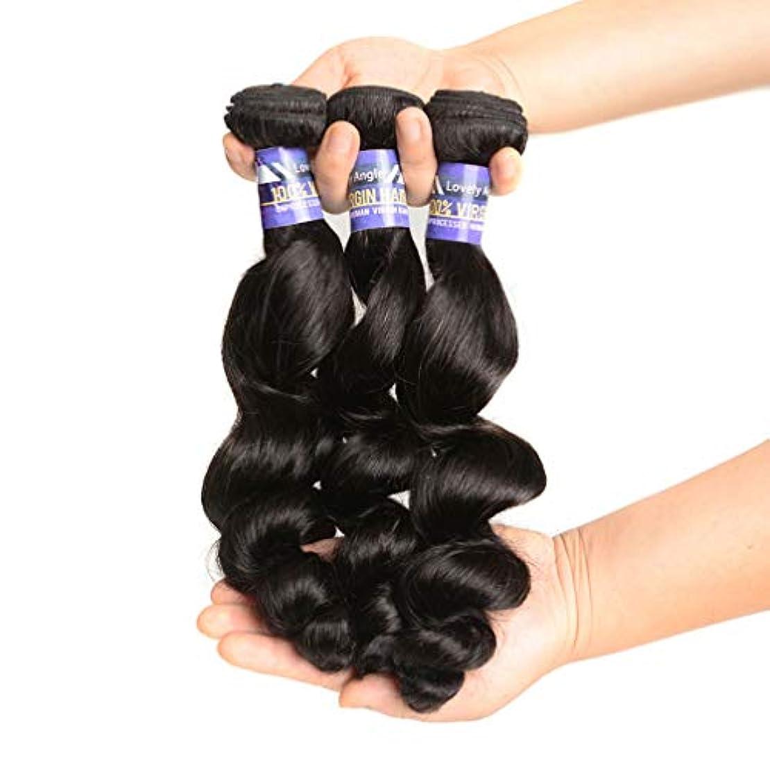 側溝故障中飲食店女性ブラジルの髪織り髪の束人間の髪の織り方人間の髪の束ブラジルの身体の波の束(3束)