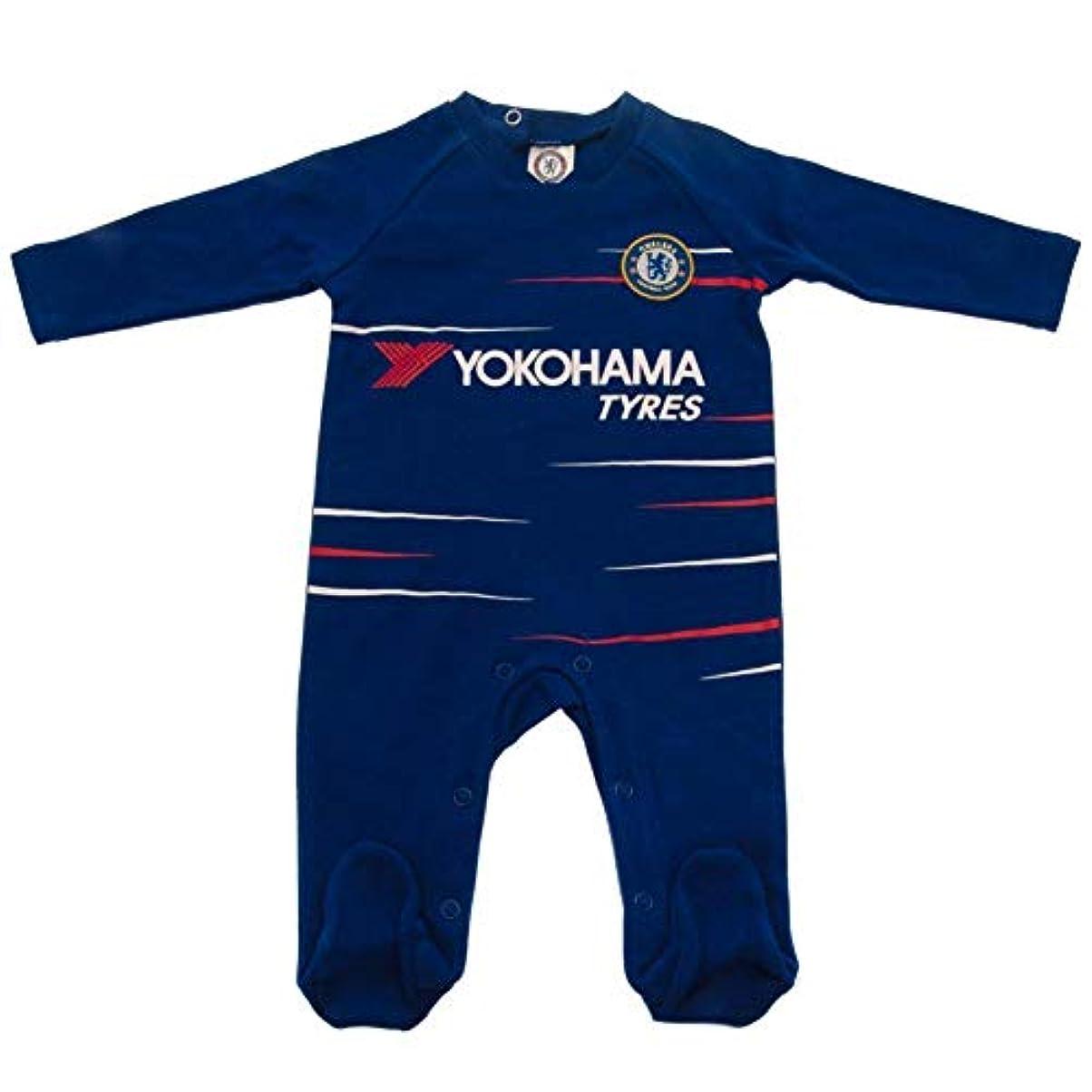 運動暗記するパッチチェルシー フットボールクラブ Chelsea FC オフィシャル商品 赤ちゃん?ベビー用 TS 長袖 ボディースーツ ロンパース