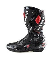 [ゼオイ] ライディングシューズ 250cm ブラック ス 強化防衛性PRO スポーツバイク用レーシングブーツ/オートバイ靴