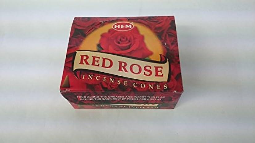 吹きさらし多年生安らぎHEM(ヘム)お香 レッドローズ コーンタイプ 1ケース(10粒入り1箱×12箱)