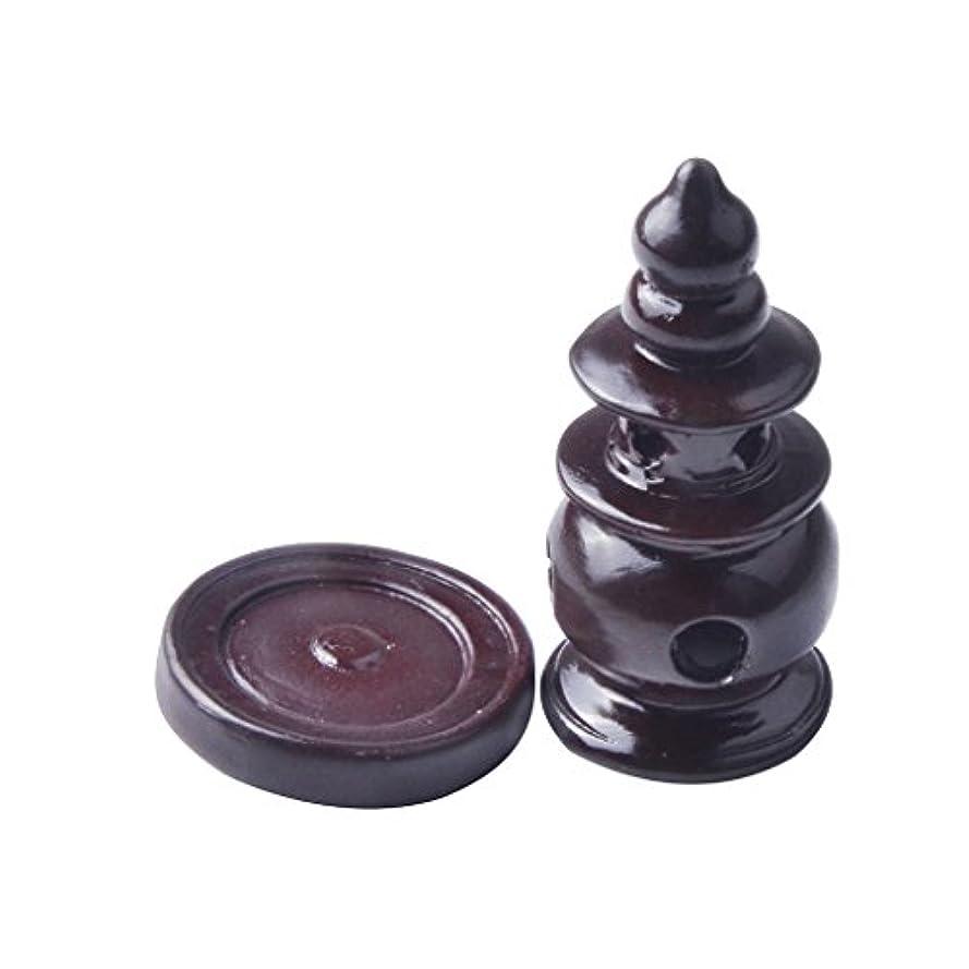 倫理発行するバスタブMagiDealハンドメイド樹脂香炉ホルダーCenserタワーストーブ円錐のSticksコイル