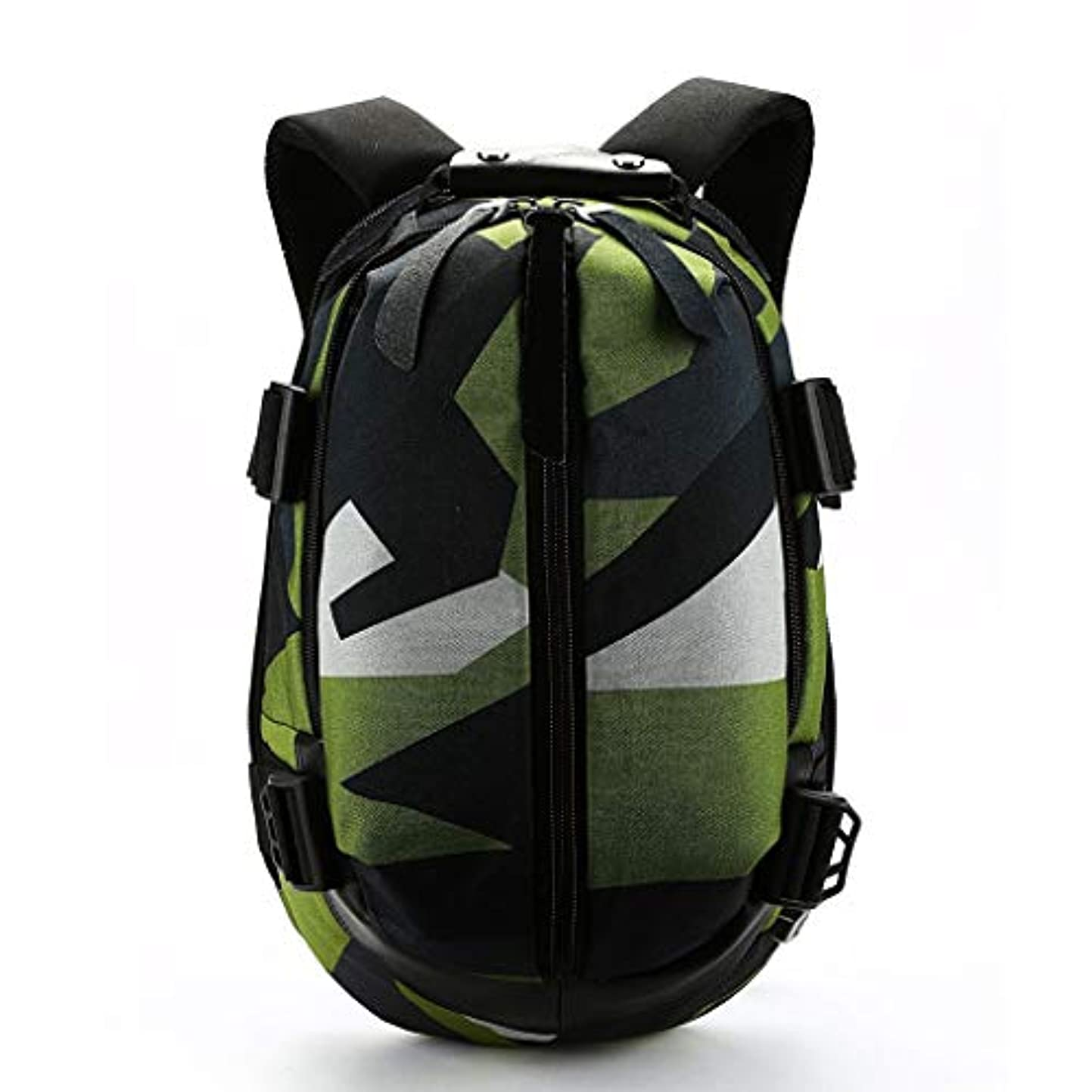 専ら名前を作る食事ユニセックススクール防水バックパックオックスフォード布バックパック男性カジュアルusb充電式学生バックパック QYSZYG (Color : Green)