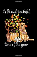 It's The Most Wonderful Time Of The Year: It's The Most Wonderful Time Of The Year Golden Retriever  Journal/Notebook Blank Lined Ruled 6x9 100 Pages