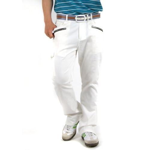 b4e3632fa4a2d1 【コモンゴルフ】 COMON GOLF ホワイト 美脚 ストレッチ ゴルフ パンツ (CG-G130401W-