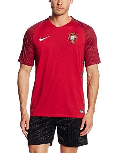 ナイキ(NIKE) ポルトガル DRI-FIT S/S ホーム スタジアム ジャージ 724620 687 ジムレッド/Dガーネット M