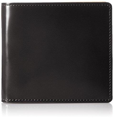 [ルエゴ] LUEGO コードバン 二つ折り財布 MWCV-02 BK (ブラック)