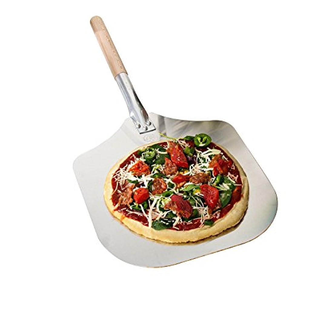 信仰潮マウンドKitchen Supply 14-Inch x 16-Inch Aluminum Pizza Peel with Wood Handle by Kitchen Supply