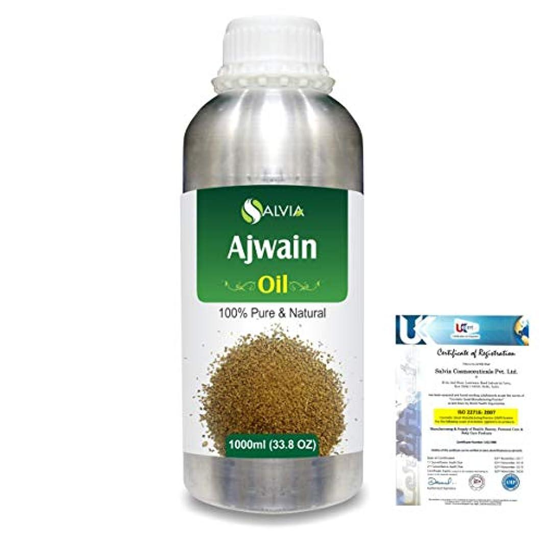 鼻書誌手荷物Ajwain(Trachyspermumammi) 100% Natural Pure Essential Oil 1000ml/33.8fl.oz.