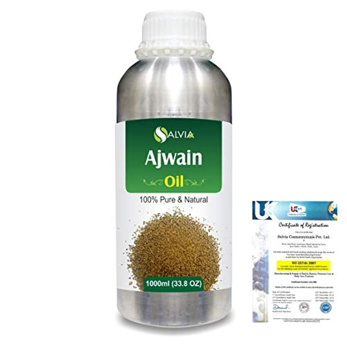 橋脚ヤング分散Ajwain(Trachyspermumammi) 100% Natural Pure Essential Oil 1000ml/33.8fl.oz.