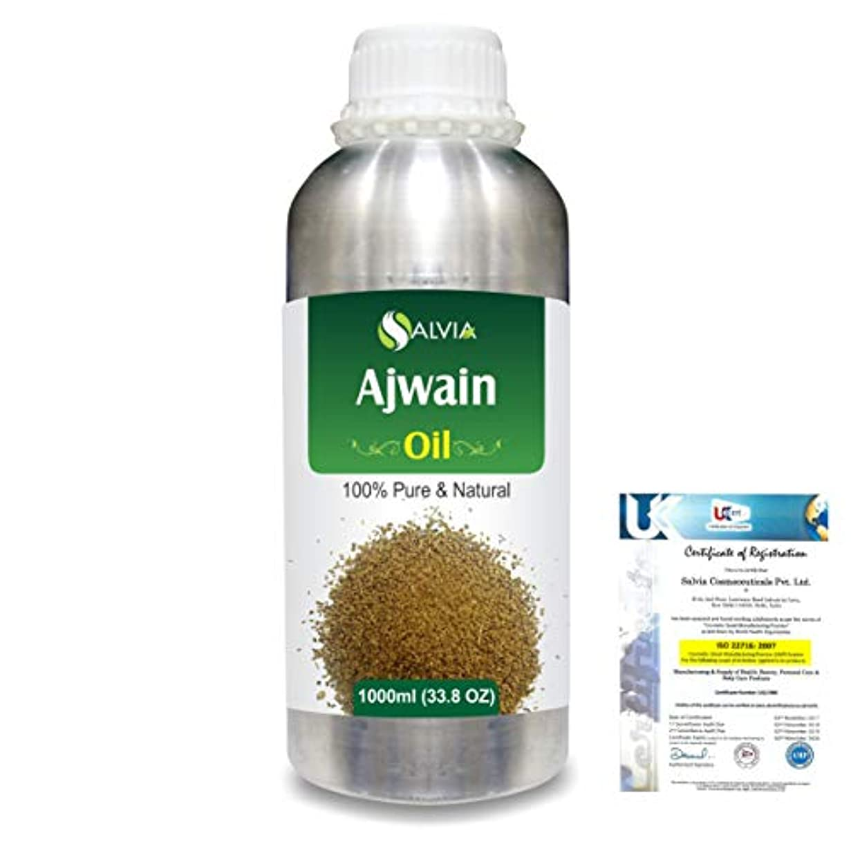 地平線狂人ハードAjwain(Trachyspermumammi) 100% Natural Pure Essential Oil 1000ml/33.8fl.oz.