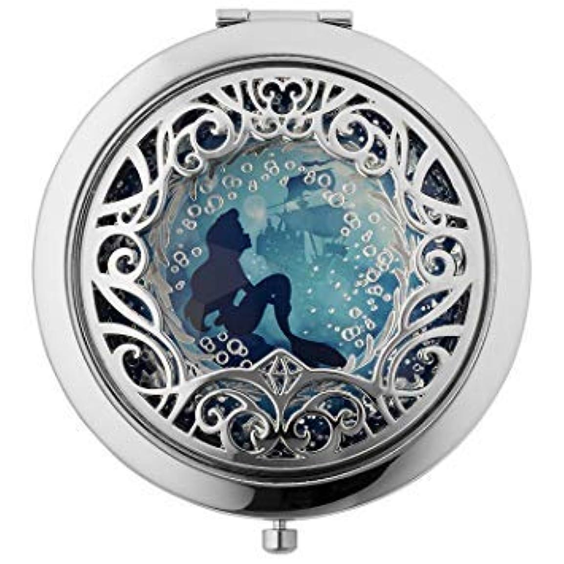 小人運命狂乱Disney Sephora ARIEL Set the Mood Compact Mirror (ディズニー セフォラ アリエル コンパクト ミラー) for Women