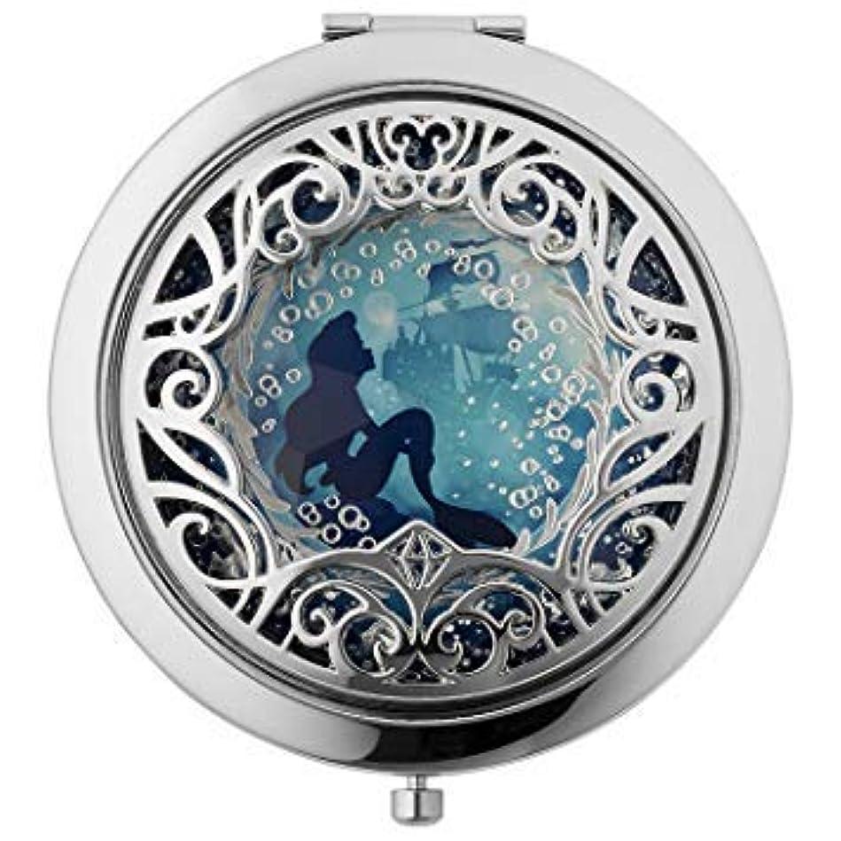 ものソケット章Disney Sephora ARIEL Set the Mood Compact Mirror (ディズニー セフォラ アリエル コンパクト ミラー) for Women