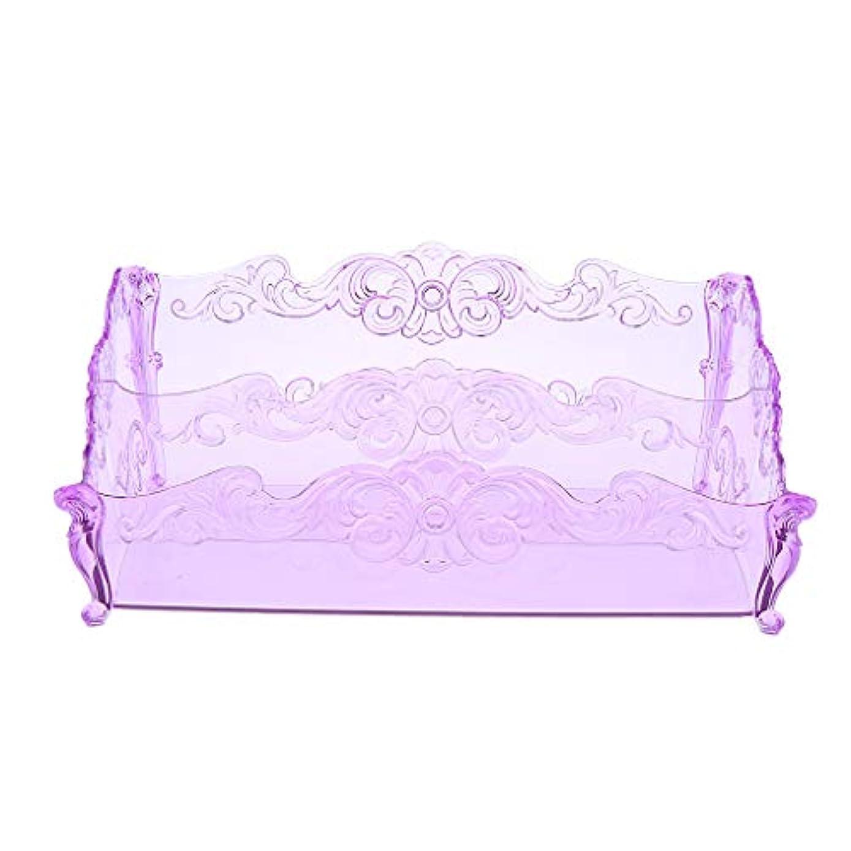 観察するフィードオン聡明DYNWAVE ジュエリー 化粧品収納 コスメ収納ボックス アクリルケース メイクケース 化粧品収納ボックス 全3色 - 紫