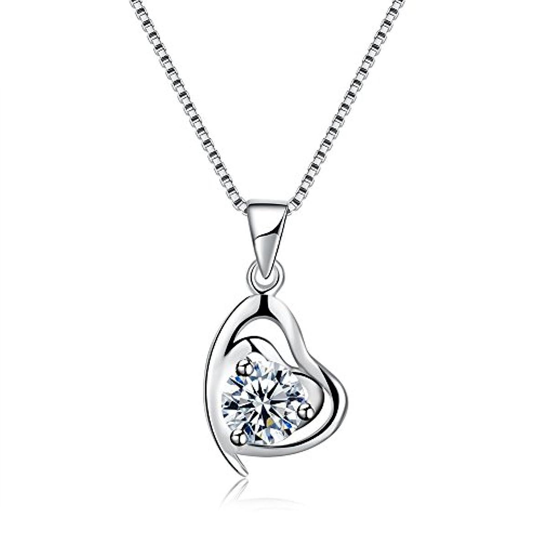 グリット速記比較的ロマンチックで上品なハートのネックレス ファッションきらきら光っているジルコンネックレス 花嫁のウエディングドレスアクセサリー 誕生日プレゼント