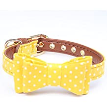Legendog Dog Bowtie Collar Cat Neck Bow Decorative Dot Printed Pet Tie Collar Gift Bowtie for Dog Cat