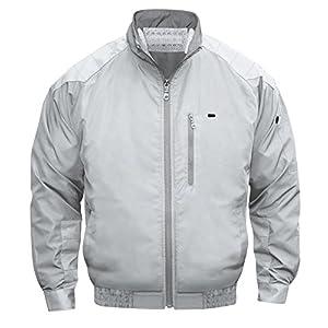 NSP 空調服 服単体 チタンコーティング 立ち襟 肩・袖補強あり シルバー 2L 8208379