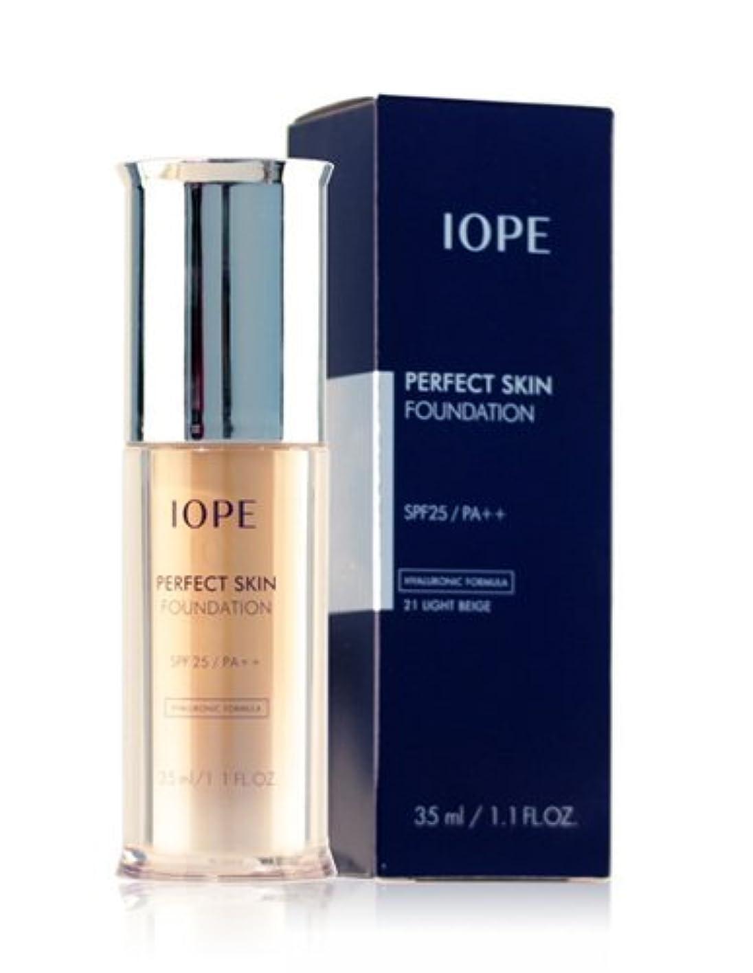 幸運な寛解広範囲にAmore Pacific IOPE Perfect Skin Foundation (spf 25, pa++) no.21 light beige 35ml