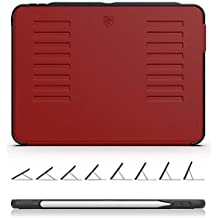 ZUGU CASE The Muse Case - 2018 iPad Pro 11 inch (New Model) - Very Protective But Thin + Convenient Magnetic Stand + Sleep/Wake Cover (Red)
