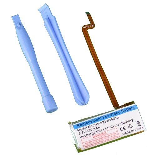【互換バッテリー】【Replacement Battery with Tool】for iPod 第5世代 30GB プラスチックツール2本付き