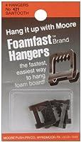 Moore Push Pin Foamfast Hangers 4/pkg 【Creative Arts】 [並行輸入品]