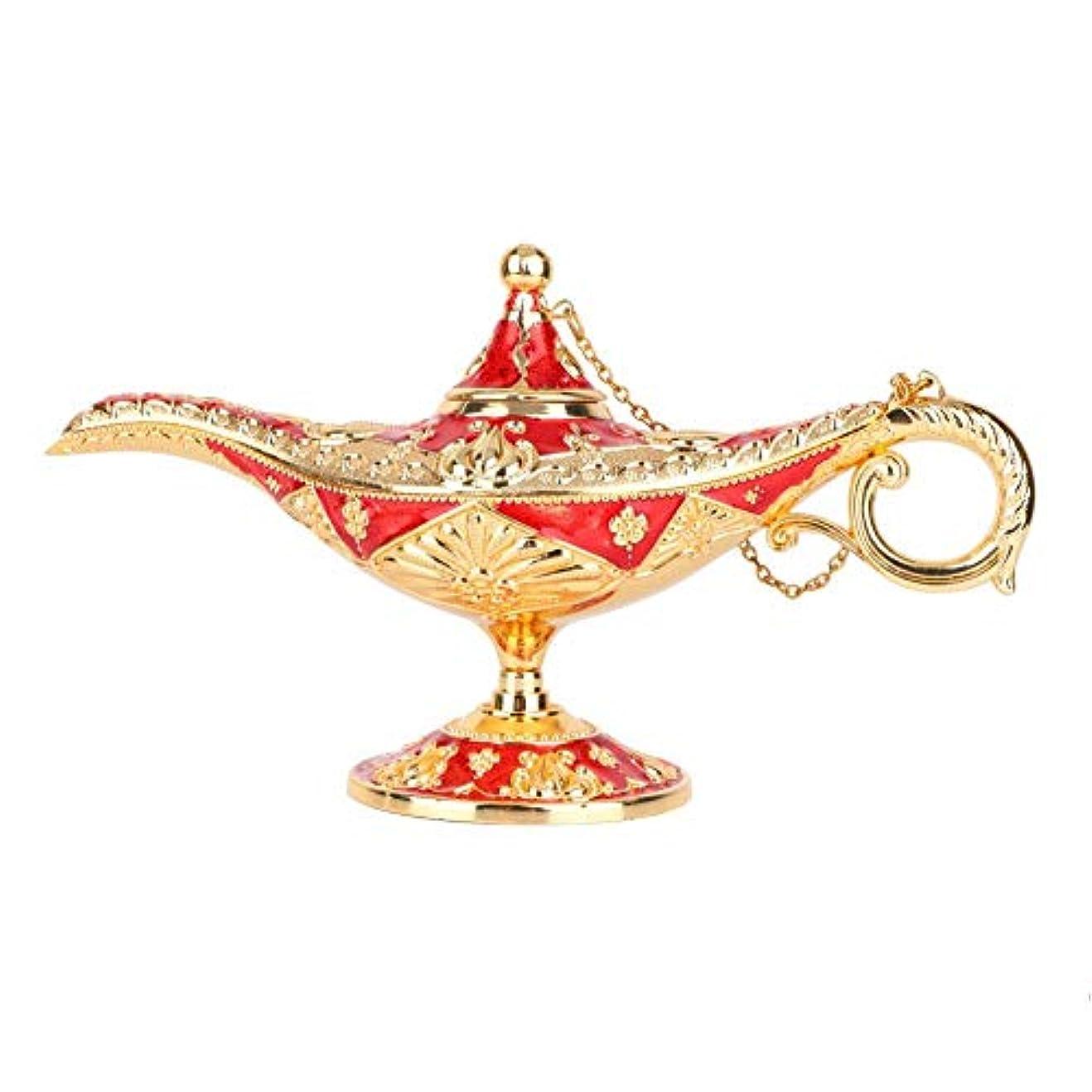 シリアル誓う研究魔神ランプ、金属3Dパターン彫刻中空伝説マジックライトウィッシングポット装飾、家の装飾、コレクション、またはギフトとしてのさび止めフェード防止