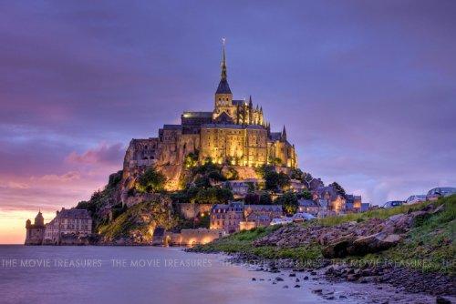 世界遺産 モンサンミシェル 修道院 ポスター Mont Sa...