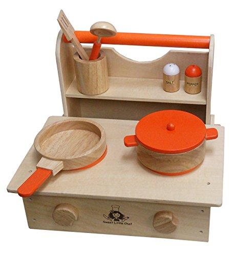 木製ままごと キッチン セット クッキング レンジ コンロ