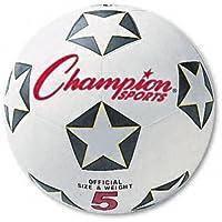 Championスポーツ:サッカーボール、ゴム/ナイロン、NO 4サイズ、ホワイト/ブラック – : - Sold as 2パックof – 1 – / – Total of 2 Each