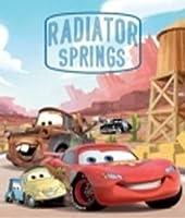 "Disney Pixar Cars Radiator SpringsシルクタッチシェルパBorregoスロー毛布ツインサイズ60"" x 80"""