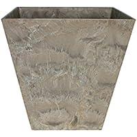 アートストーン スクエア 25cm ベージュ /底面給水型植木鉢(底栓付)