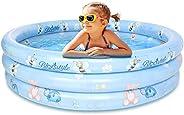 ファミリープール 水遊びプール 2-3人遊べるプール 3気室家庭用プール 120cm*120cm子供用ビニールプール ボールプール 円型ベビープール 自宅リゾート ベランダ お庭で水あそび ビッグサイズ 玩具プール
