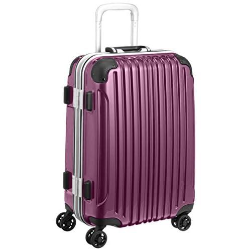 [ビバーシェ] Vivache スーツケース UH Sガンメタ 35L 3.9kg フレームハードキャリー UH-S パープル (パープル)