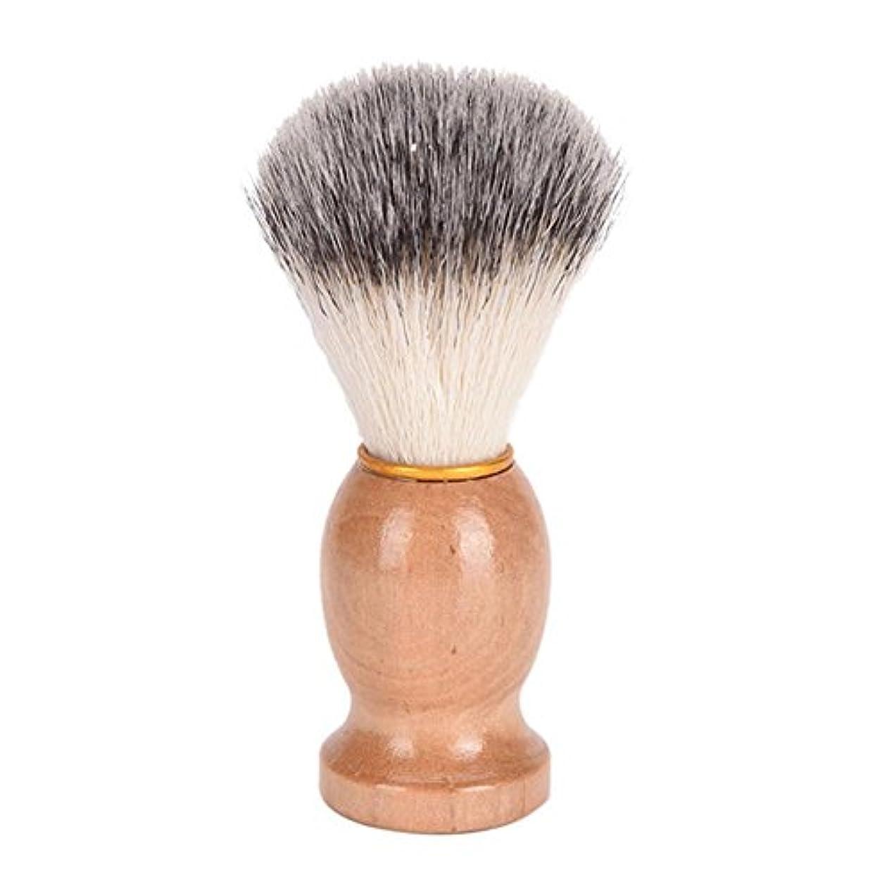 傑出した支援既にひげブラシ 髭ブラシ シェービング用アクセサリー メンズ用 髭剃り ブラシ シェービングブラシ 木製ハンドル 男性 ギフト理容 洗顔 髭剃り