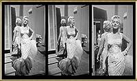 ポスター ジーン レスター マリリン モンロー White Beaded Gown 額装品 アルミ製ハイグレードフレーム(ゴールド)