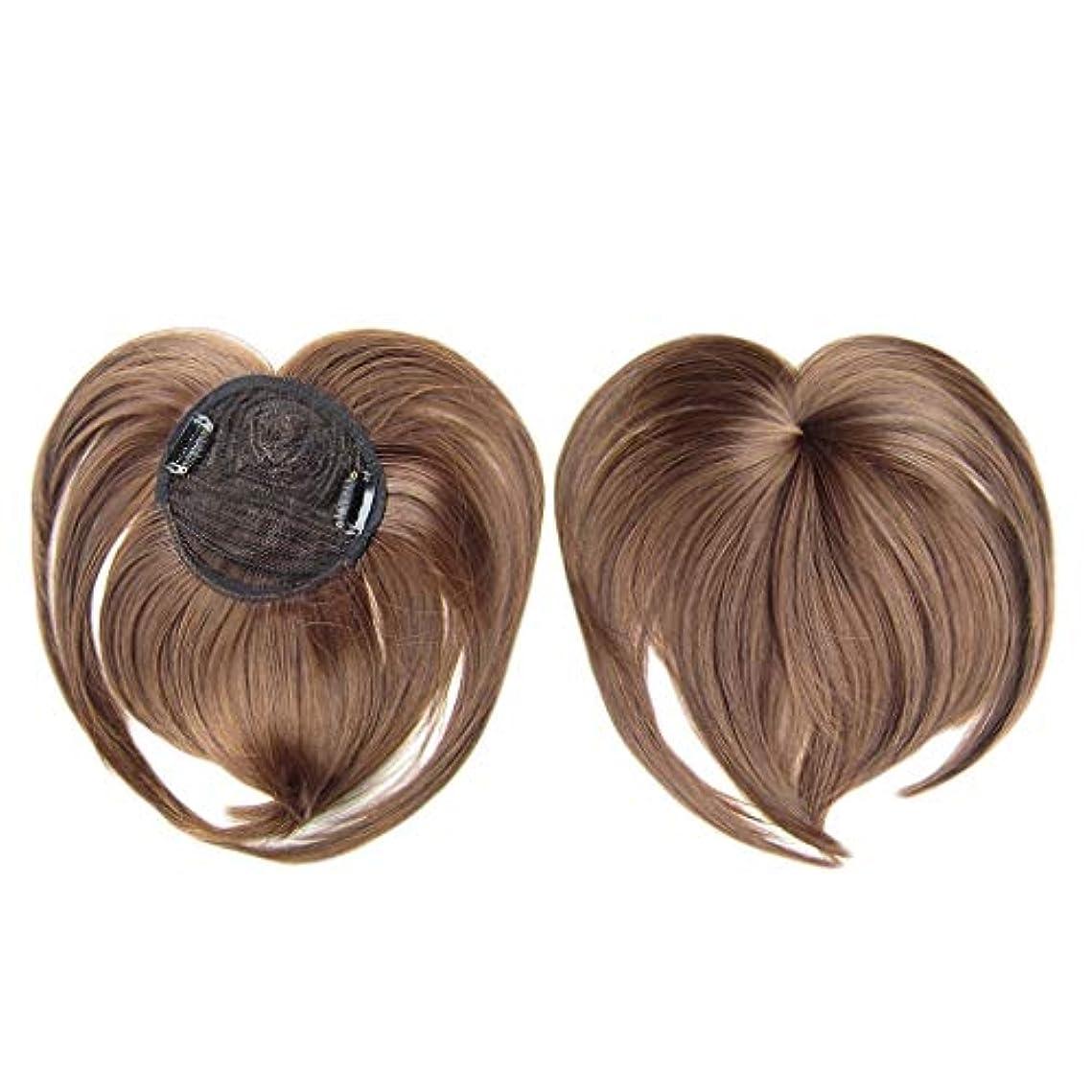 文明ピークミニチュアJun® 女性の絹のようなクリップオンヘアトッパーウィッグ耐熱ファイバーウィッグファッションヘアウィッグ (G)