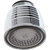 SODIAL LED蛇口ライト温度センサー3バッテリー色無し蛇口