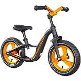 HYYQG 兒童平衡自行車12英寸鋁合金車架無踏板可調節座椅幼兒自行車2-6歲幼兒男孩女孩[易組裝]訓練自行車兒童最佳禮物