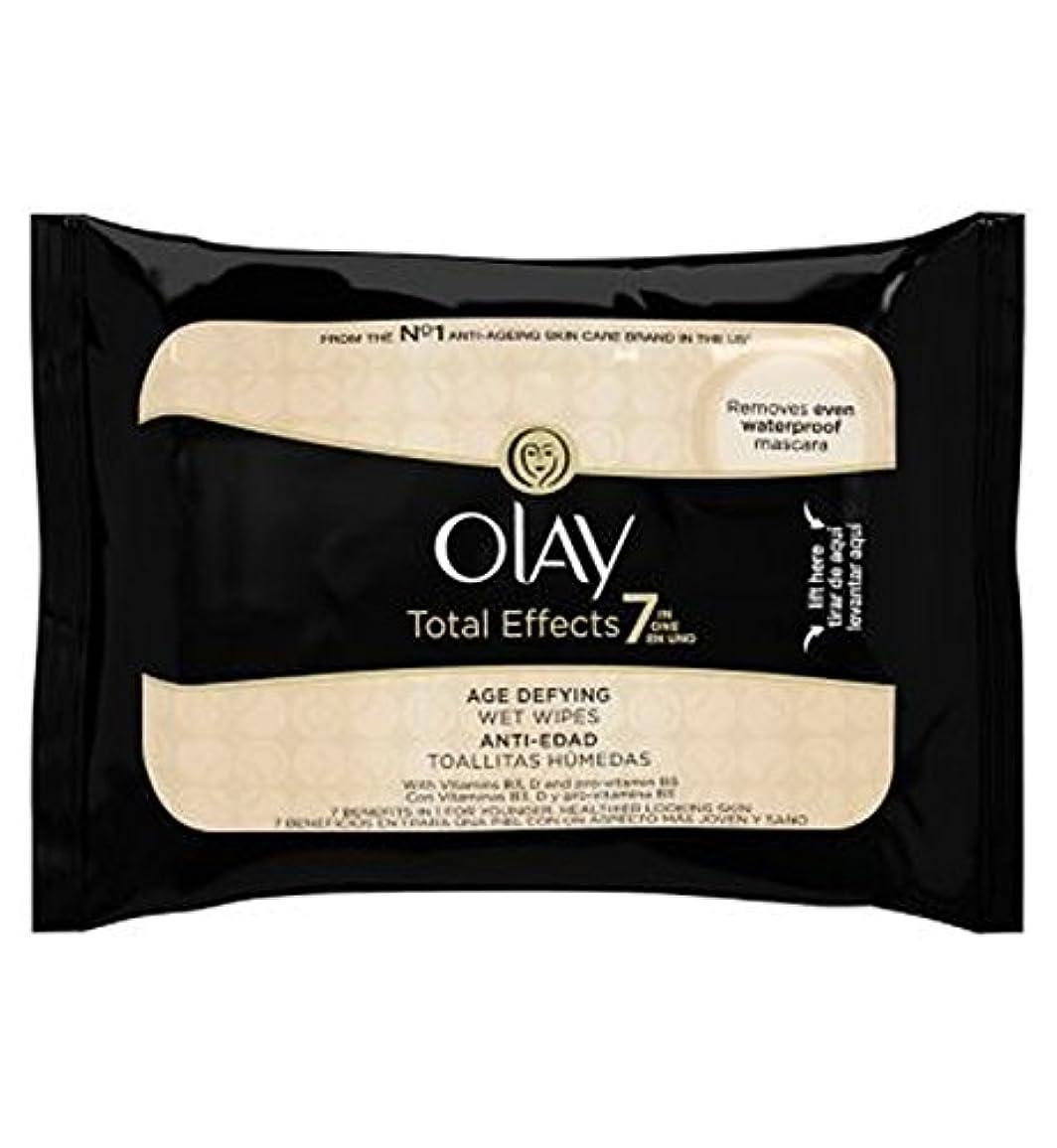 報復するシリンダー母音オーレイトータルエフェクト?7In1のウェットティッシュの20代の年齢に挑みます (Olay) (x2) - Olay Total Effects 7in1 Age-Defying Wet Wipes 20s (Pack...