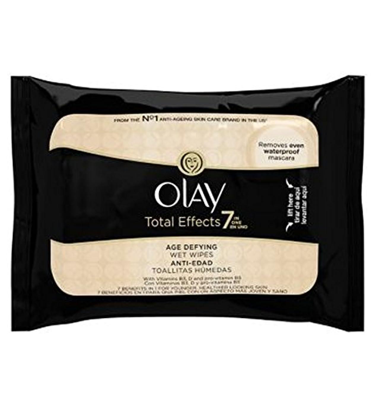スナック繊毛はさみOlay Total Effects 7in1 Age-Defying Wet Wipes 20s - オーレイトータルエフェクト?7In1のウェットティッシュの20代の年齢に挑みます (Olay) [並行輸入品]
