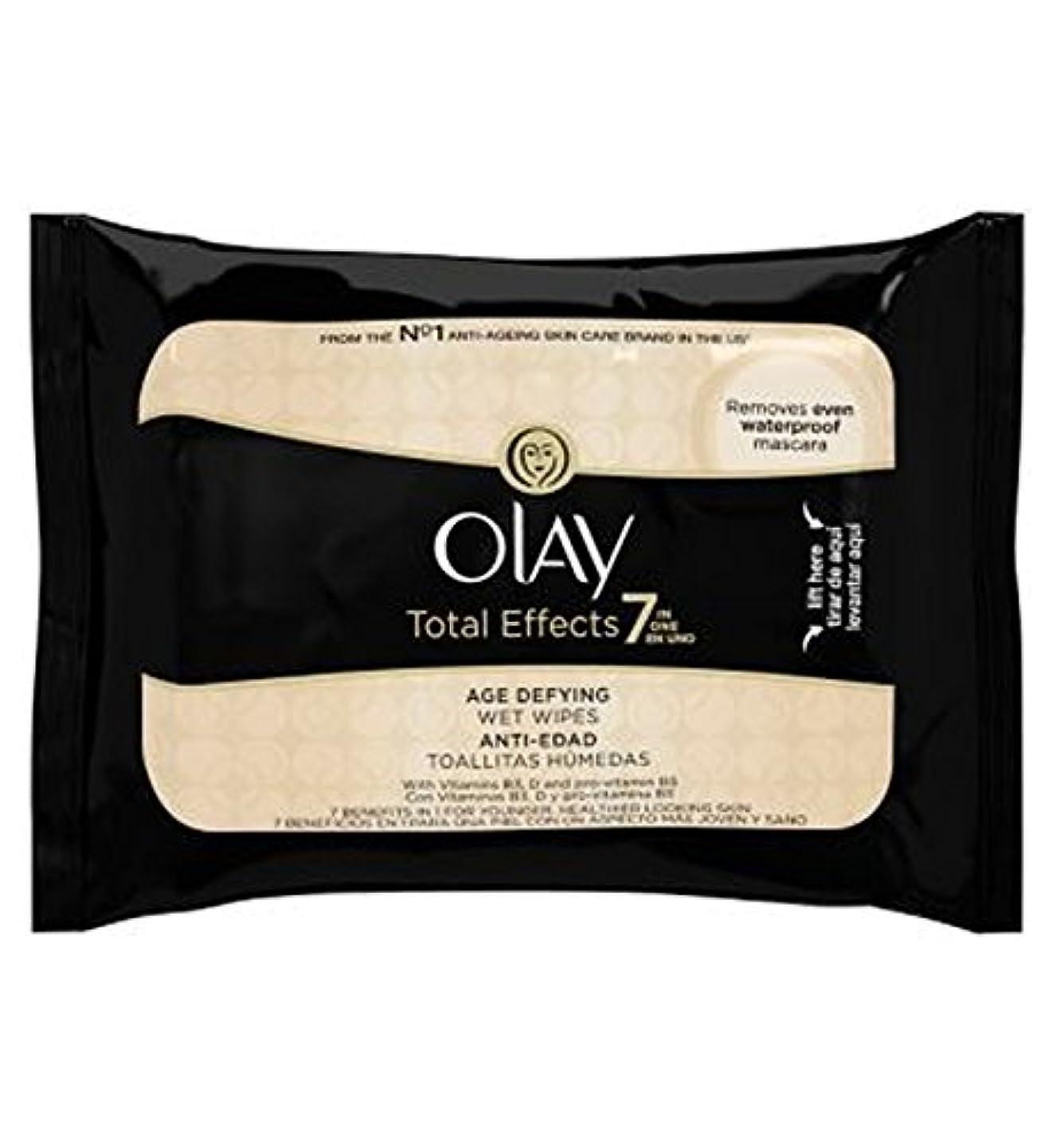 パトロン重要性変なオーレイトータルエフェクト?7In1のウェットティッシュの20代の年齢に挑みます (Olay) (x2) - Olay Total Effects 7in1 Age-Defying Wet Wipes 20s (Pack...