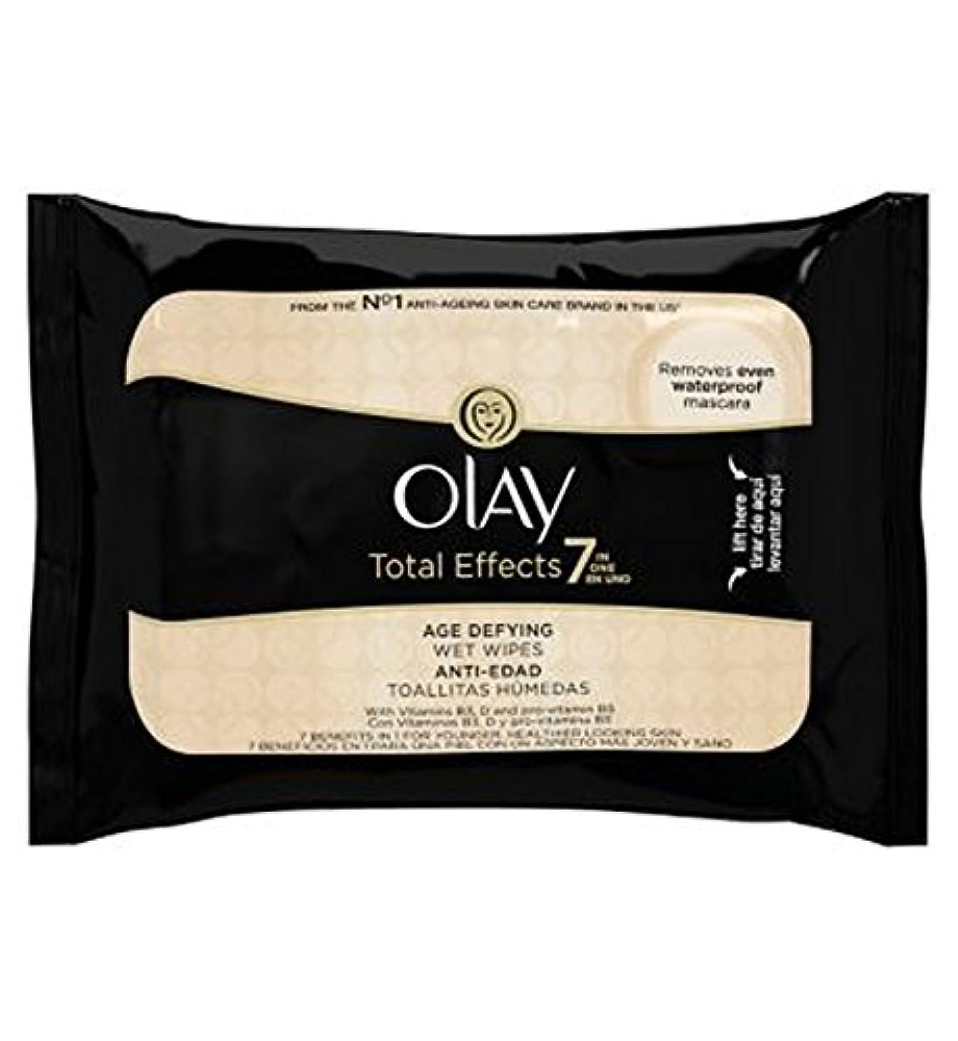 体弾薬ユーザーオーレイトータルエフェクト?7In1のウェットティッシュの20代の年齢に挑みます (Olay) (x2) - Olay Total Effects 7in1 Age-Defying Wet Wipes 20s (Pack...