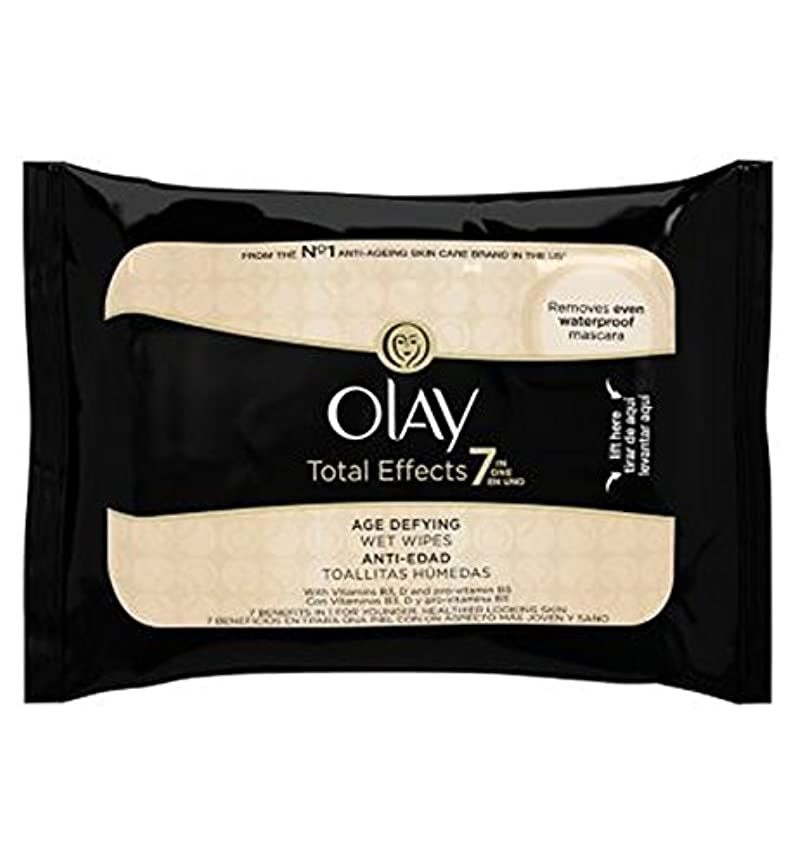 最適サーカス管理するオーレイトータルエフェクト?7In1のウェットティッシュの20代の年齢に挑みます (Olay) (x2) - Olay Total Effects 7in1 Age-Defying Wet Wipes 20s (Pack...
