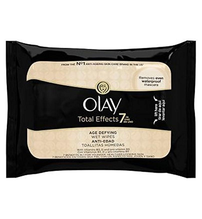インポート眠り学部長オーレイトータルエフェクト?7In1のウェットティッシュの20代の年齢に挑みます (Olay) (x2) - Olay Total Effects 7in1 Age-Defying Wet Wipes 20s (Pack...