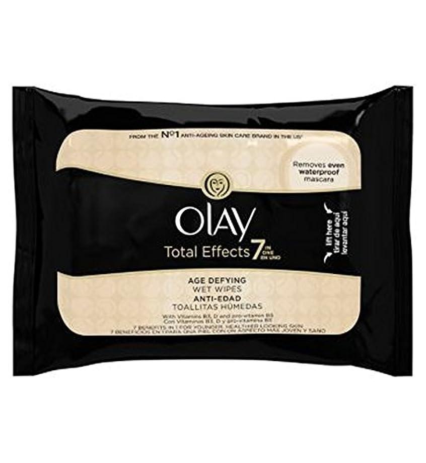 アミューズメント非常に順応性オーレイトータルエフェクト?7In1のウェットティッシュの20代の年齢に挑みます (Olay) (x2) - Olay Total Effects 7in1 Age-Defying Wet Wipes 20s (Pack...