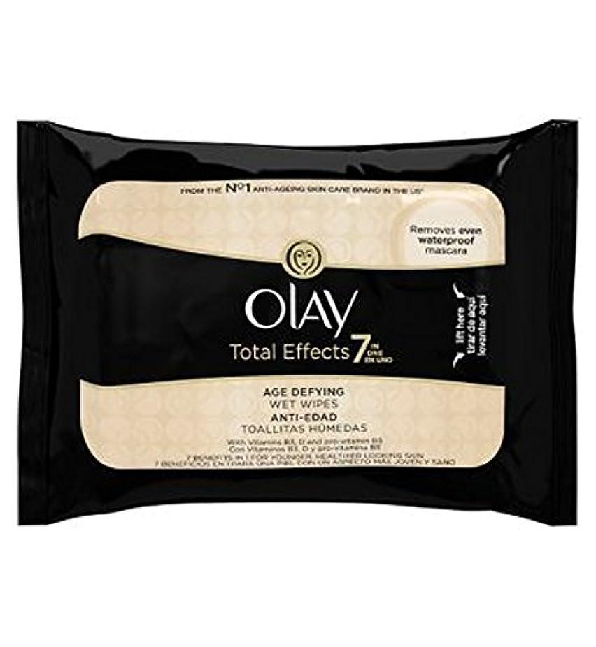 がっかりした自分の力ですべてをする生命体オーレイトータルエフェクト?7In1のウェットティッシュの20代の年齢に挑みます (Olay) (x2) - Olay Total Effects 7in1 Age-Defying Wet Wipes 20s (Pack...